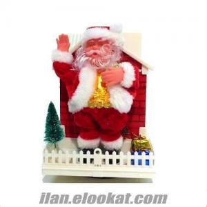 Müzikli Işıklı Evde Dans Eden Noel Baba