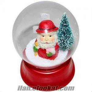 Noel Baba Yılbaşı Kar Küresi Müzik Kutusu Fanus