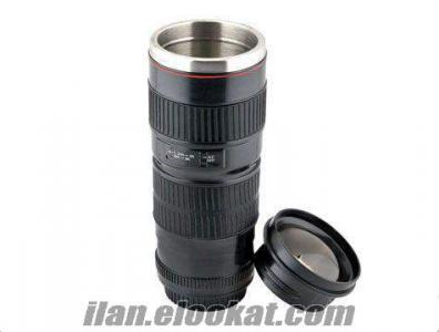 Çelik Objektif Termos Bardak, Lens Bardak, TOPTAN, PERAKENDE