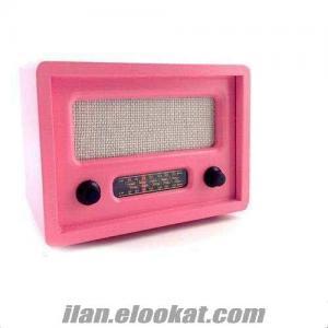 Nostaljik Ahşap Radyo (6 Renk Seçenekli)