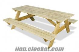Kampanya- Ahşap Piknik Masası 285 TL (Paketli)