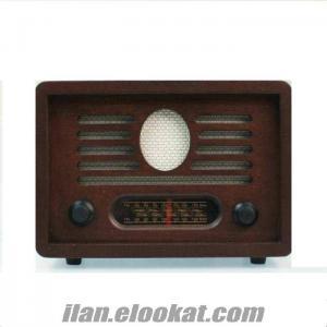 TOPTAN Ahşap Nostaljik Ceviz Radyo, Sevgiliye Hediye