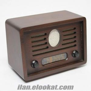 Nostaljik Ahşap Radyo Toptan (4 Renk Seçenekli)