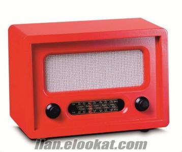 TOPTAN Nostaljik Ahşap Radyo (6 Renk Seçenekli)