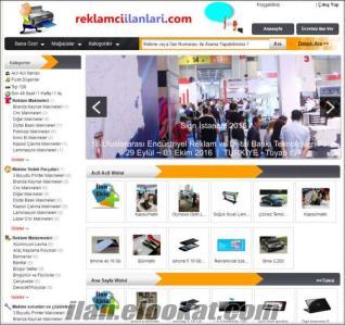 Reklamcılar özel makine satış ve iş ilan sitesi