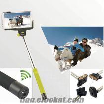 Toptan Selfie Çekim Çubuğu (Bluetooth Zoomlu) Monopod