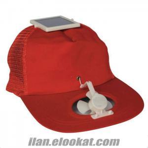TOPTAN Solar Fanlı Şapka Serinleten Solar Şapka