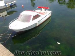 Satılık yarım kamaralı motorlu fiber tekne