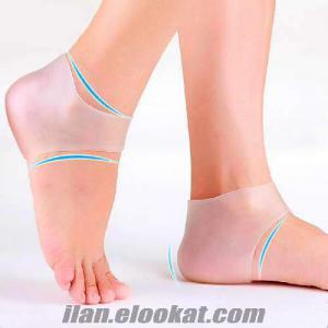 Topuk Çatlak Koruyucu Silikon Pedli Çorap