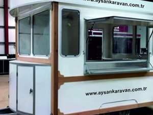 Tramvay büfe Vagon büfe Satış karavanı İmalatı Aysan Bursa