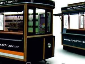 Tramvay büfe Mobil büfeler Seyyar büfe Kiosk karavan Aysan Bursa