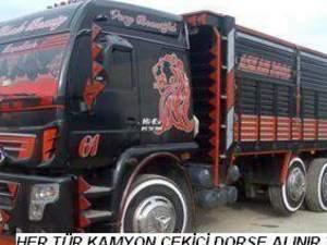 ağır hasarlı parçalanacak kamyon çekici alınır