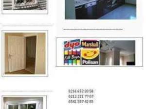 taksitle daire boya kartonpiyer banyo tesisat fayans mutfak dolabı tadilat işler