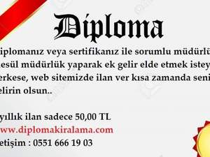 İstanbul Kiralık Kimyager Diploması