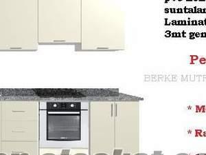 Mutfak dolapları fiyatları 1600TL 3mt Ramazan özel BERKEYAPI