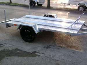 motor taşımak için römork imalattan satılık sıfır.Motorsiklet Römorku