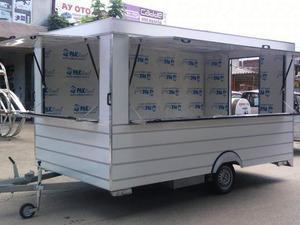Satılık büfe tipi satış karavanları