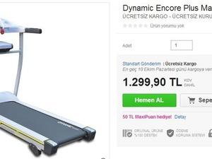 Dynamic Encore Plus masajlı mekik aparatlı katlanabilir koşu bandı
