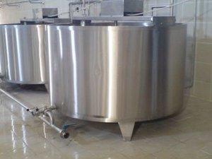paslanmaz süt pişirme kazanı 2 ton