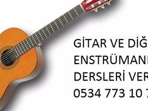 gitar akordeon keman yan flüt ritm ve şan dersleri verilir