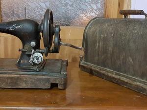 SİNGER antika kollu dikiş makinası