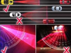 Araba Motosiklet Büyük Araç Arka Lazer Sis ikaz Lambası