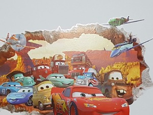 Arabalar Çocuk Odası Duvar Dekor Sticker