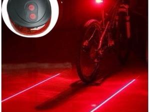 bisiklet arka lazer güvenlik şerit çizgi ve fonks.