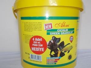 Satılık ahm marin cichlid green granulat 3 kg hediyeli