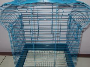 Satılık taç muhabbet kuşu kafesi mavi