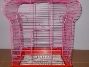 taç muhabbet kuşu kafesi pembe