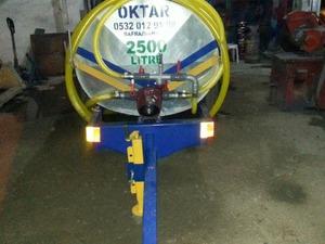 Pompalı Su Tankeri Paslanmaz 2.5 Ton 2500 Litre