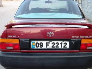 Karaman Merkez Gevher Hatun Mah. Toyota Corolla 1.6 XLi