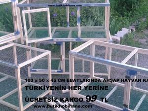 katlanabilir ahşap hayvan kafesi - ÜCRETSIZ KARGO