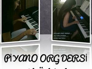 piyano ve org dersi özel garantili eğitim