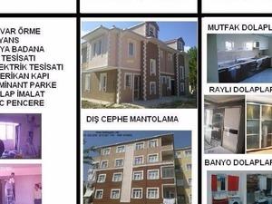 istanbulda taksitle ev tadilat tamirat tesisat  kapı dolap boya badana işleri için uzman firma berkeyapı