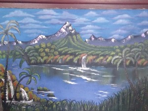 duvar resmi çizilir