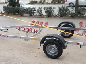 Marinport bot römorku roller romork imalatı tek dingilli galvaniz römorklar Aysan Bursa'da..